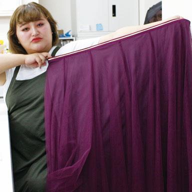 【体型隠しのセオリー】こんなに◯◯るの!??読者モデルも絶賛!女子会に着ていきたい贅沢にふんわり揺れるチュールスカート!LL-5L