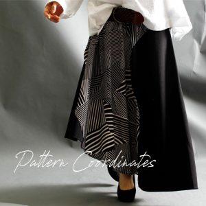 【 40代50代の為のファッション】大人世代に丁度いい♪華足しコーデに白黒柄のフェミニンさ☆LL-6L