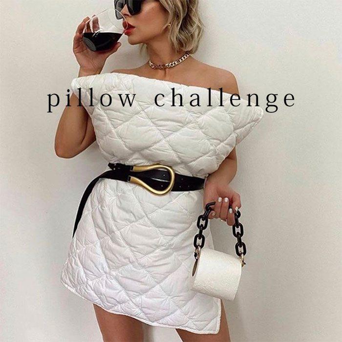 【 大きいサイズのおすすめ】お家でファッションショー☆ 海外で大人気!! #pillow challenge をご存知ですか? LL-5L