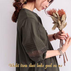 【40代50代の為のファッション】真っ先に取り入れたい!『秋カーキ』でおしゃれっぽコーデ☆LL-5L
