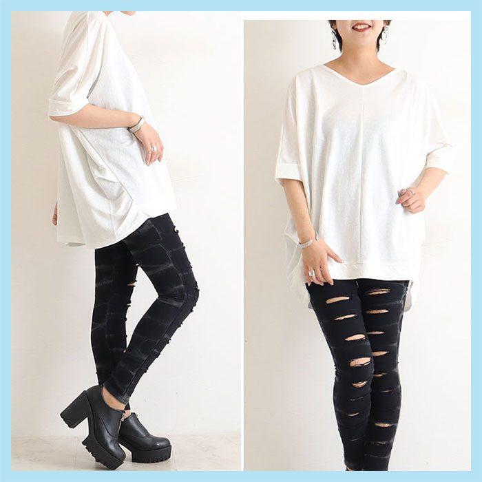 【やっちゃいけないNGファッション】そのまま着ると「体操着」になっちゃう!?白Tシャツのダサみえ防止術LL-6L